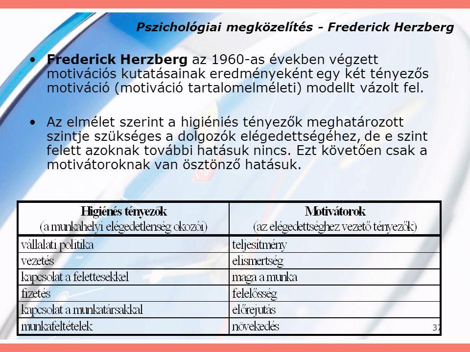 Pszichológiai megközelítés - Frederick Herzberg