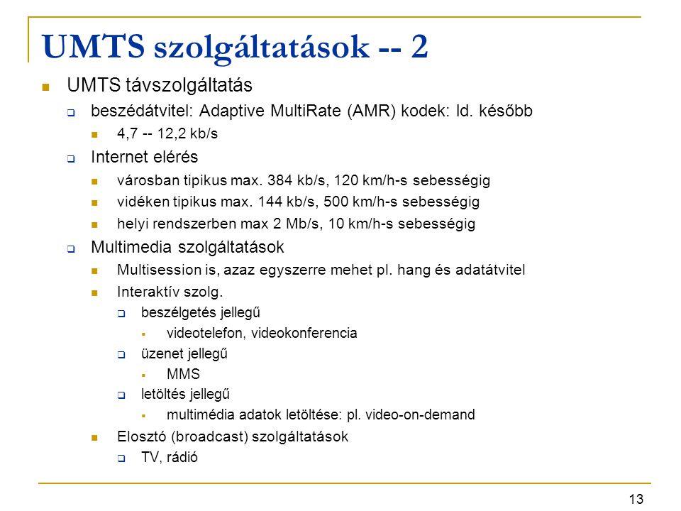 UMTS szolgáltatások -- 2