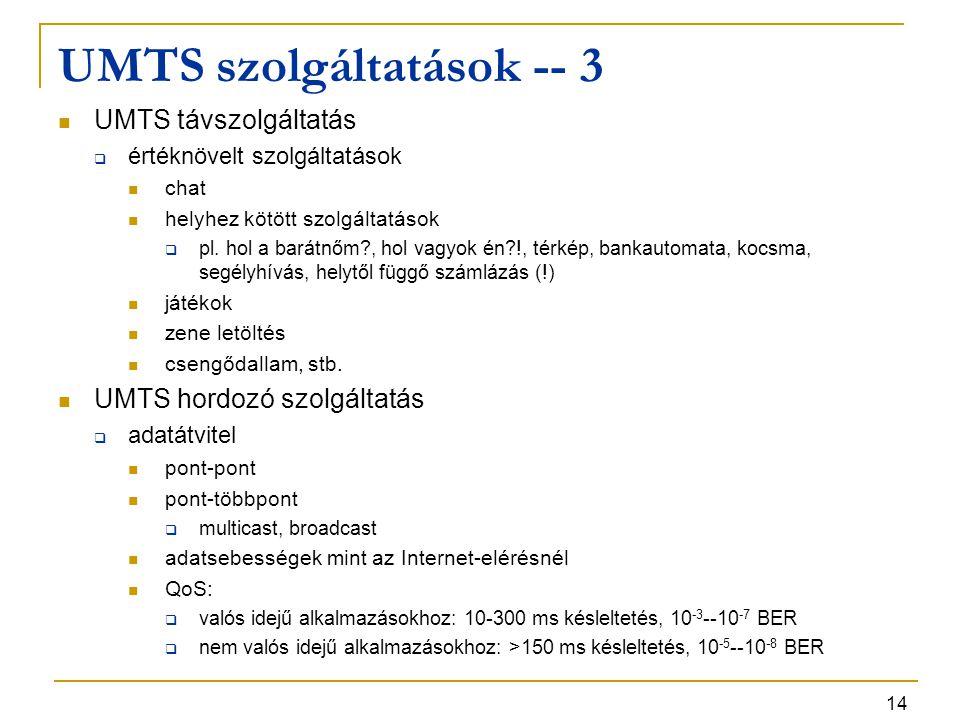 UMTS szolgáltatások -- 3