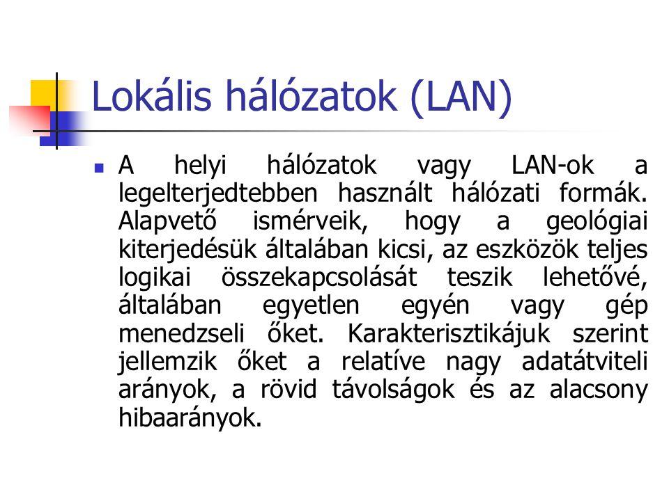 Lokális hálózatok (LAN)