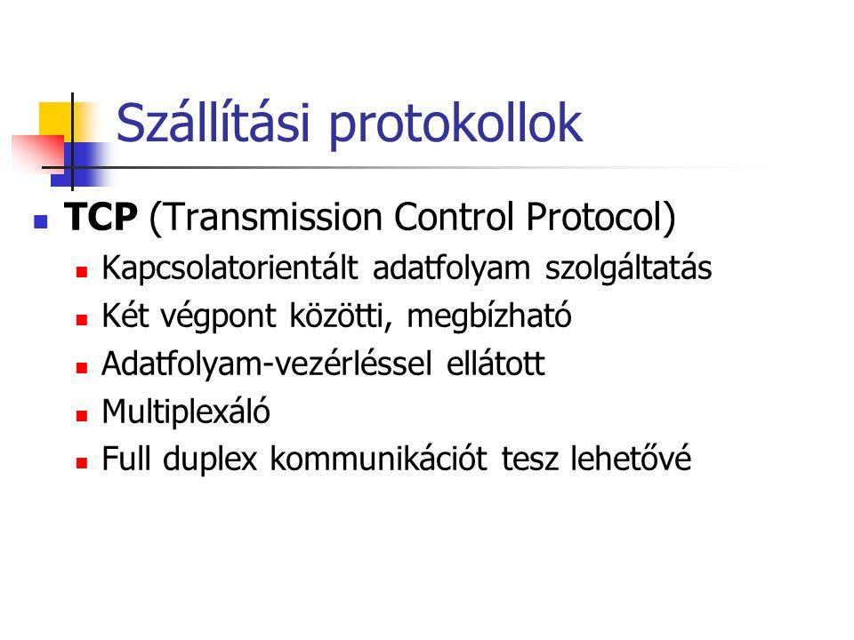 Szállítási protokollok