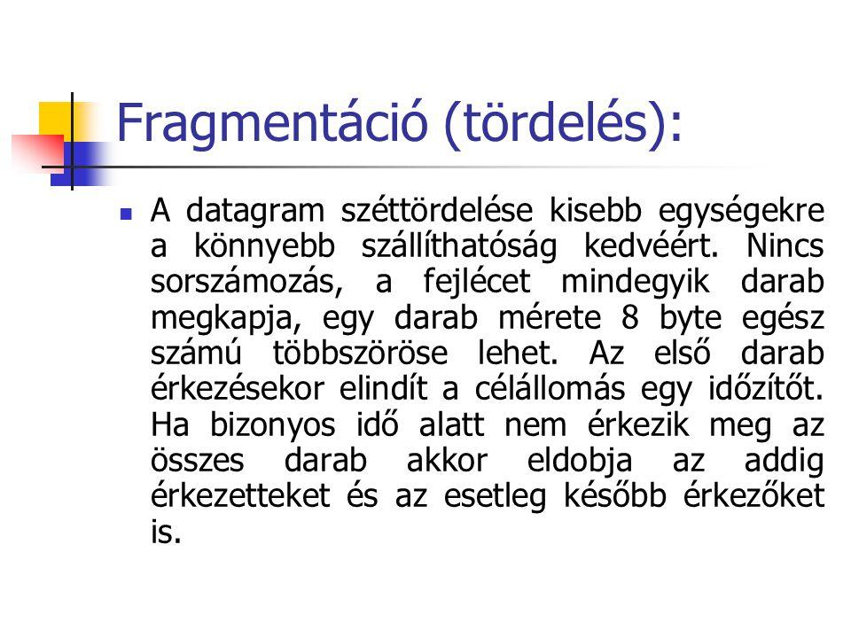Fragmentáció (tördelés):