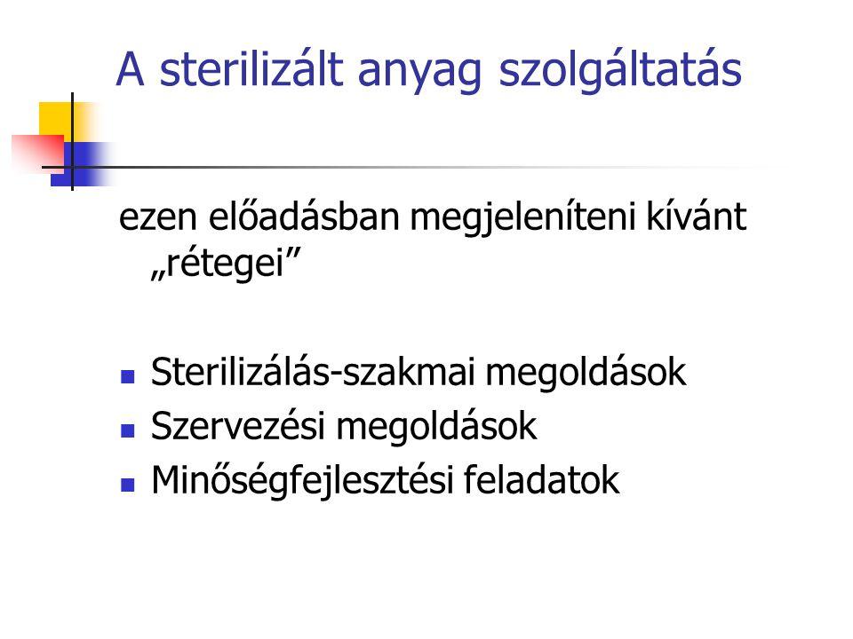A sterilizált anyag szolgáltatás