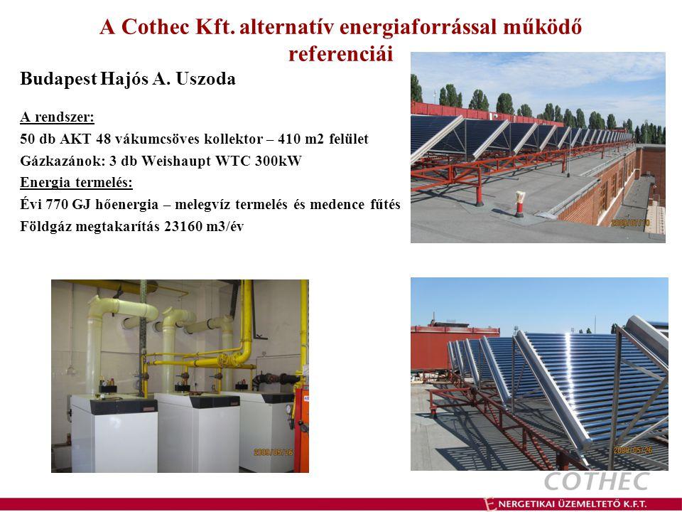 A Cothec Kft. alternatív energiaforrással működő referenciái