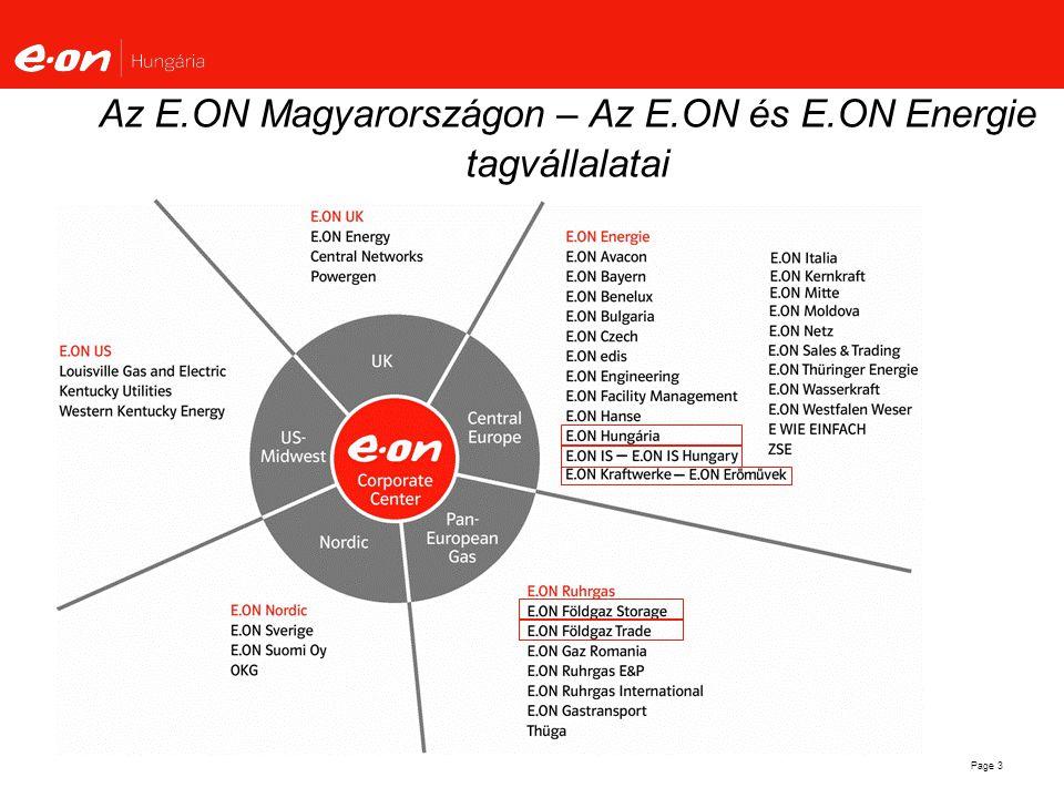 Az E.ON Magyarországon – Az E.ON és E.ON Energie tagvállalatai