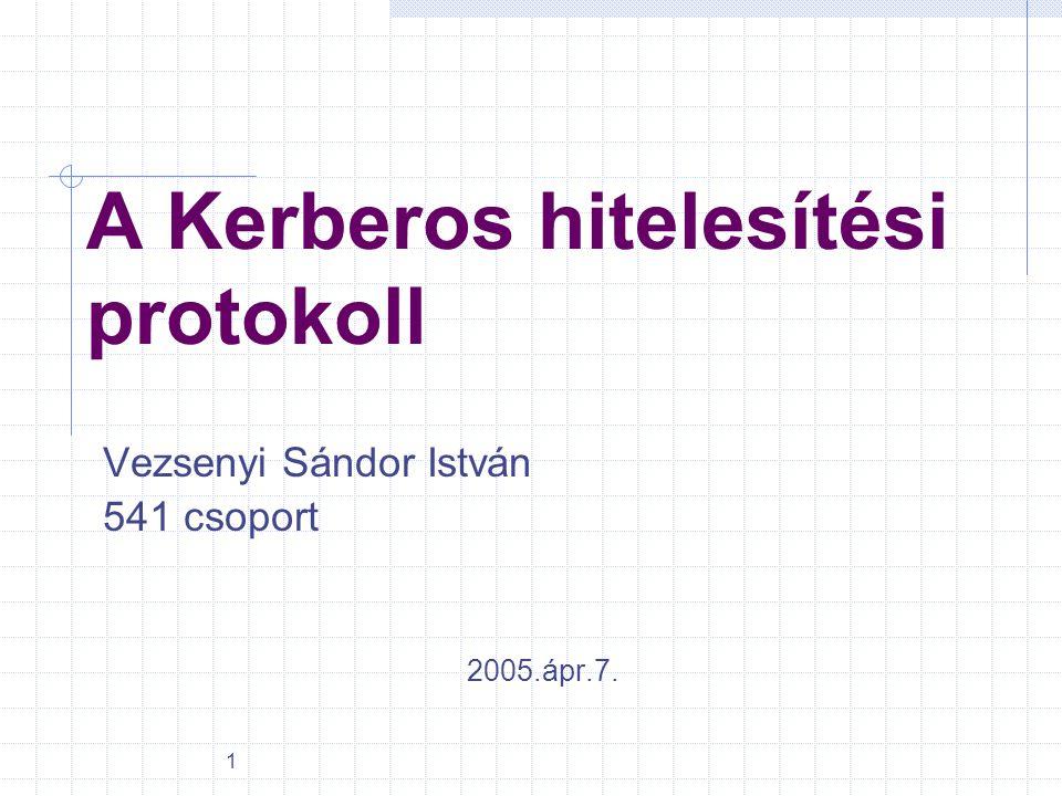 A Kerberos hitelesítési protokoll