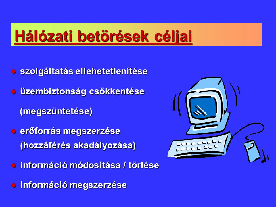 Hálózati betörések céljai