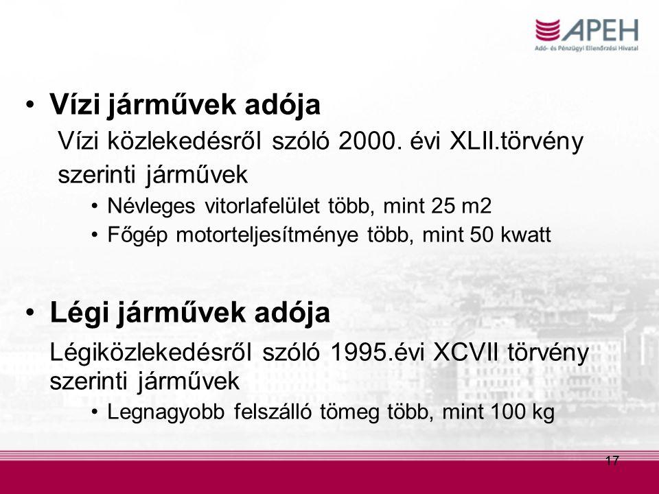 Légiközlekedésről szóló 1995.évi XCVII törvény szerinti járművek