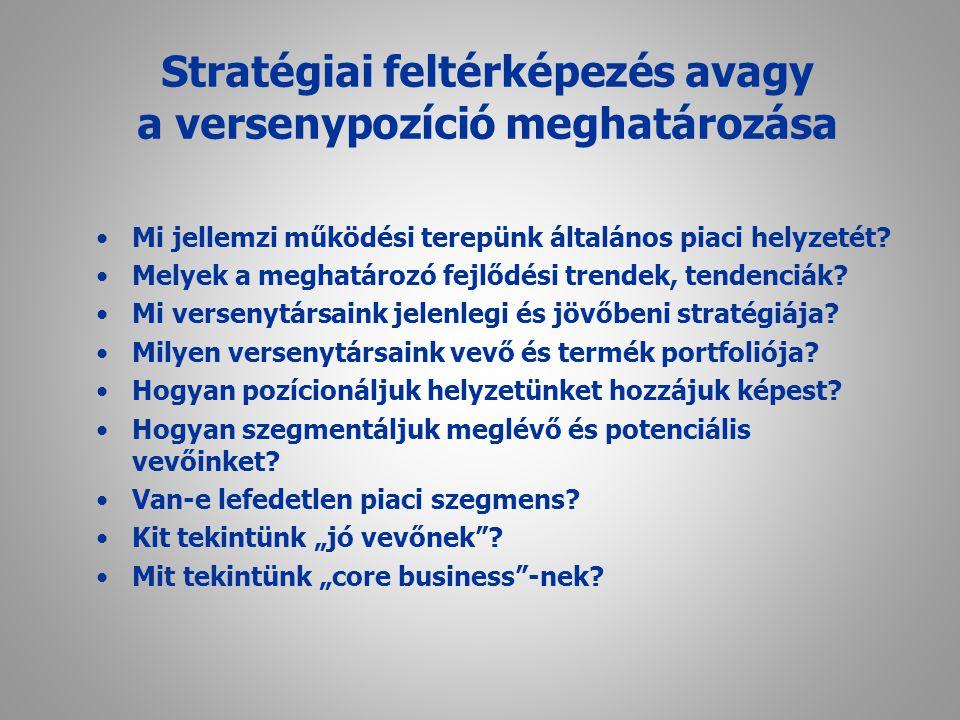 Stratégiai feltérképezés avagy a versenypozíció meghatározása