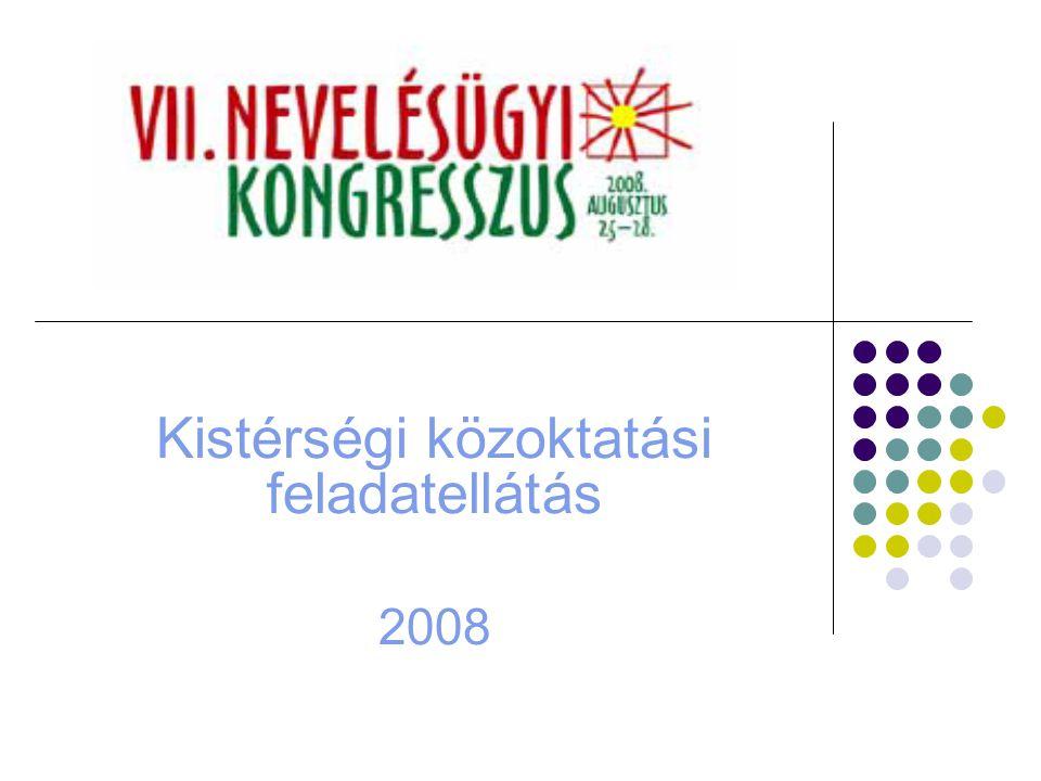 Kistérségi közoktatási feladatellátás 2008