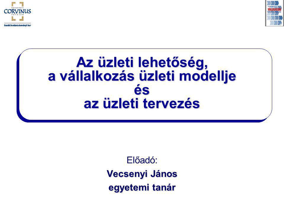 ÜZLETI TERVEZÉS Előadó: Vecsenyi János egyetemi tanár