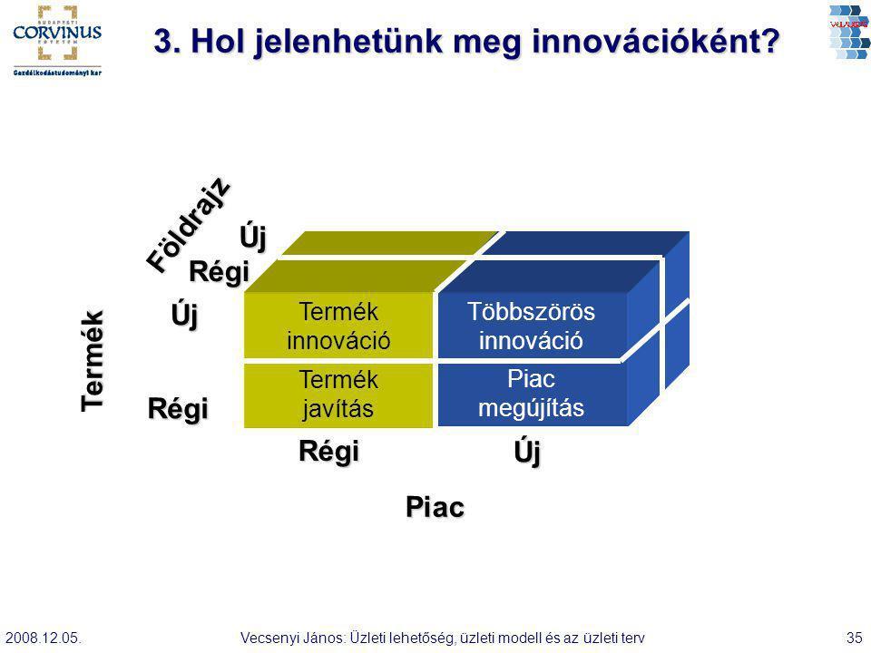 3. Hol jelenhetünk meg innovációként