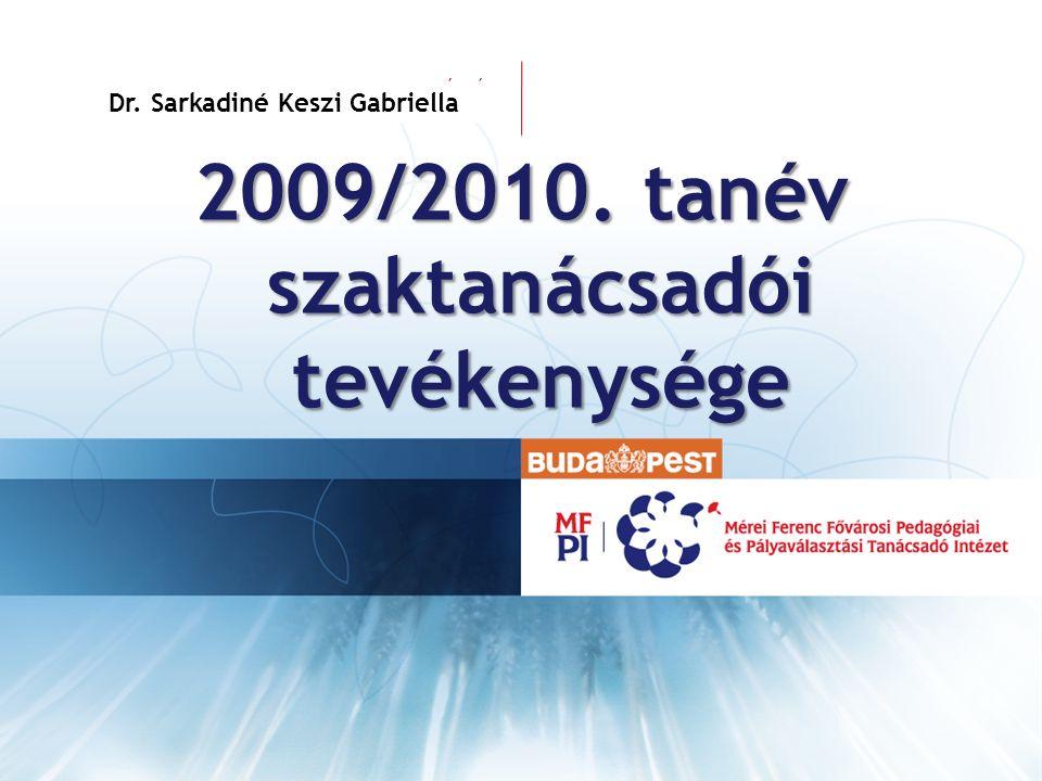 2009/2010. tanév szaktanácsadói tevékenysége