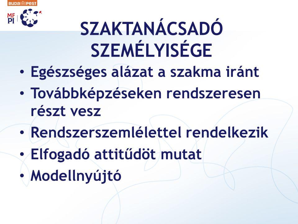 SZAKTANÁCSADÓ SZEMÉLYISÉGE