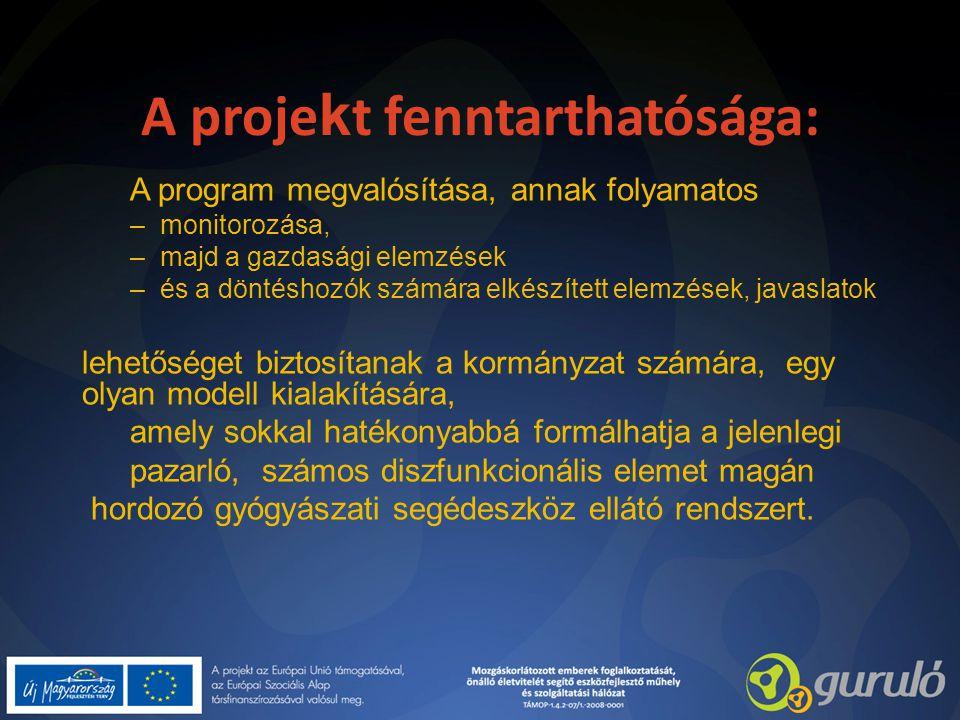 A projekt fenntarthatósága: