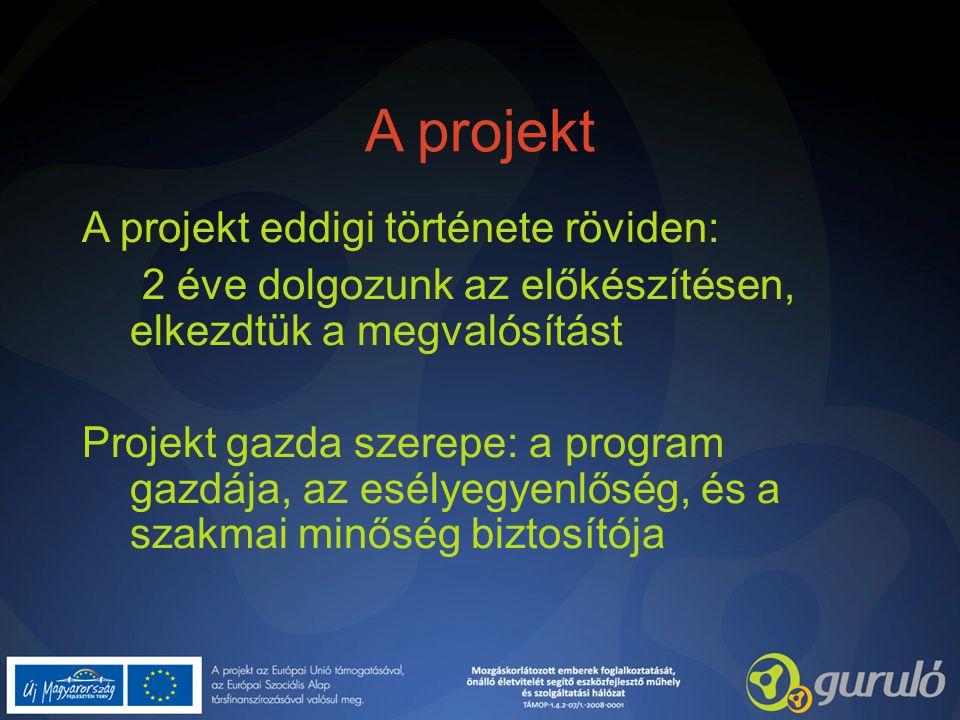 A projekt A projekt eddigi története röviden: