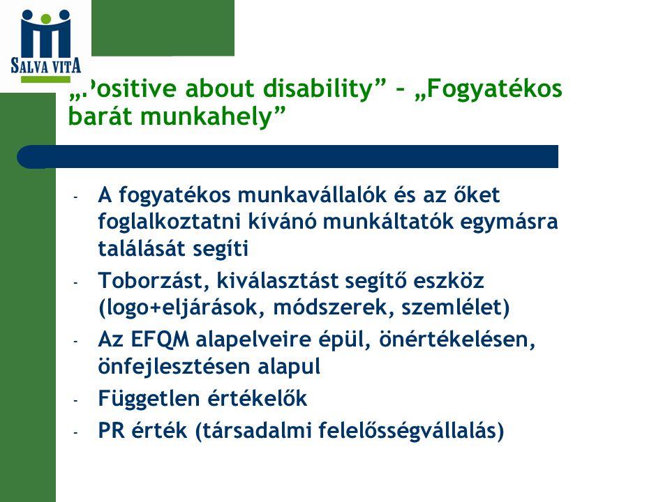 """""""Positive about disability – """"Fogyatékos barát munkahely"""