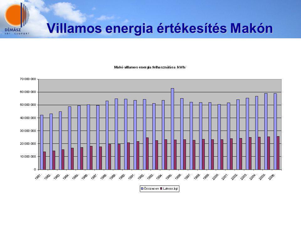 Villamos energia értékesítés Makón