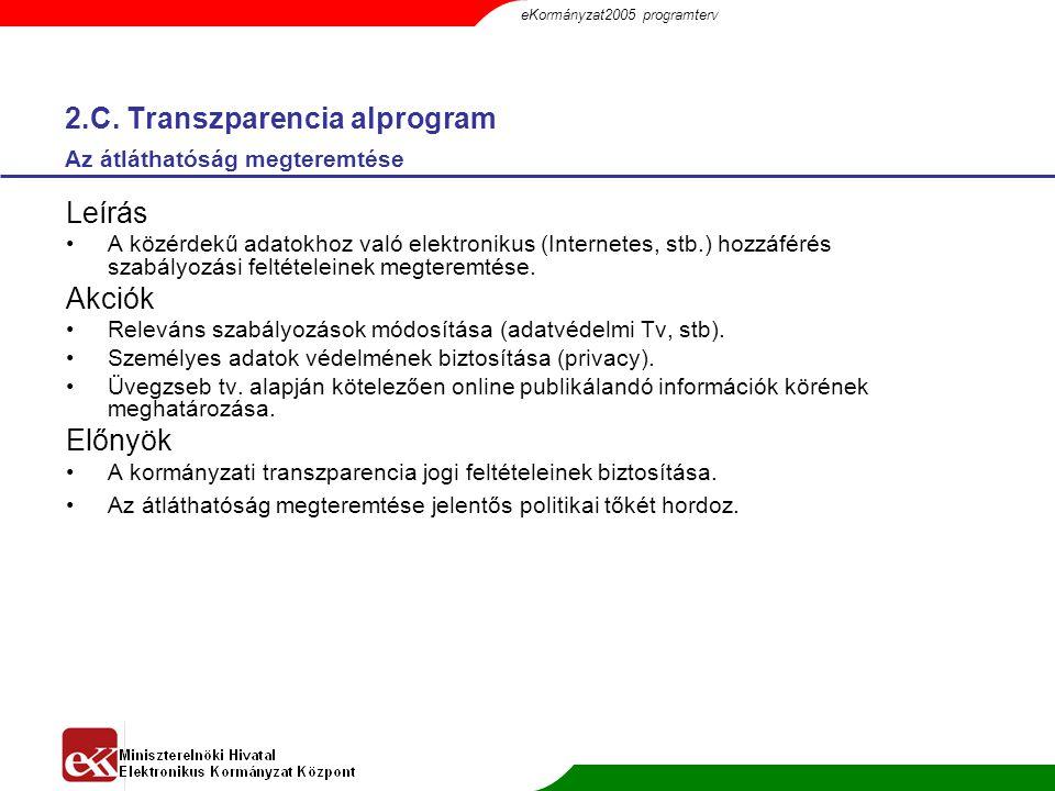 2.C. Transzparencia alprogram