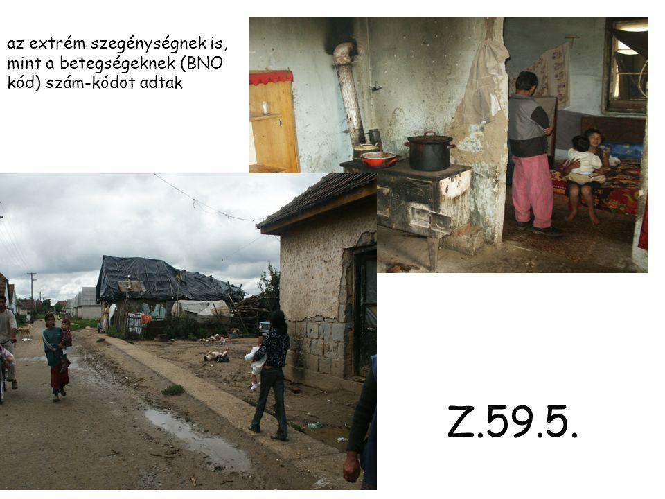 az extrém szegénységnek is, mint a betegségeknek (BNO kód) szám-kódot adtak