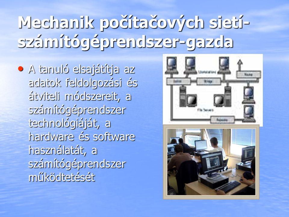 Mechanik počítačových sietí- számítógéprendszer-gazda
