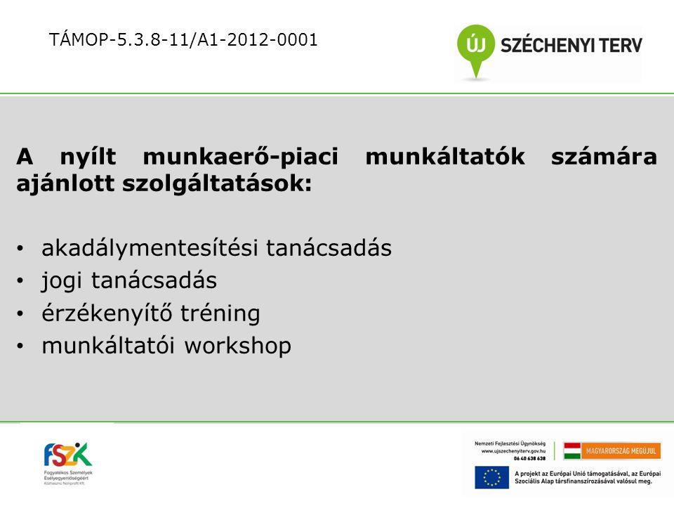 A nyílt munkaerő-piaci munkáltatók számára ajánlott szolgáltatások: