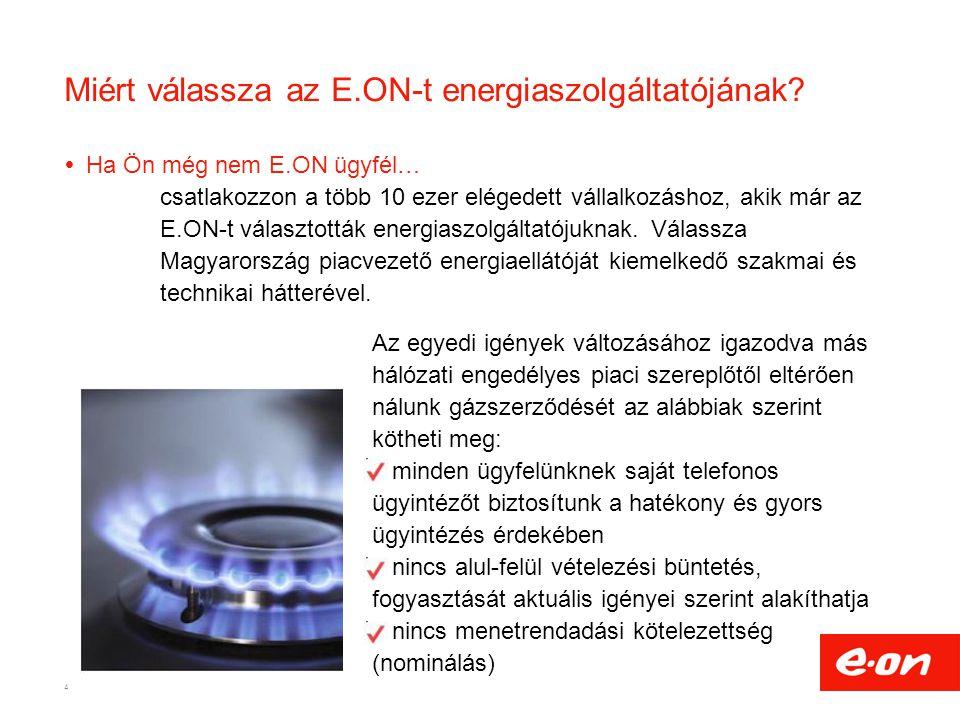 Miért válassza az E.ON-t energiaszolgáltatójának