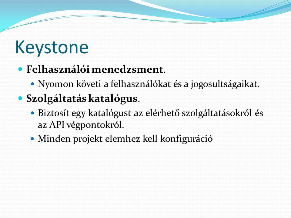 Keystone Felhasználói menedzsment. Szolgáltatás katalógus.