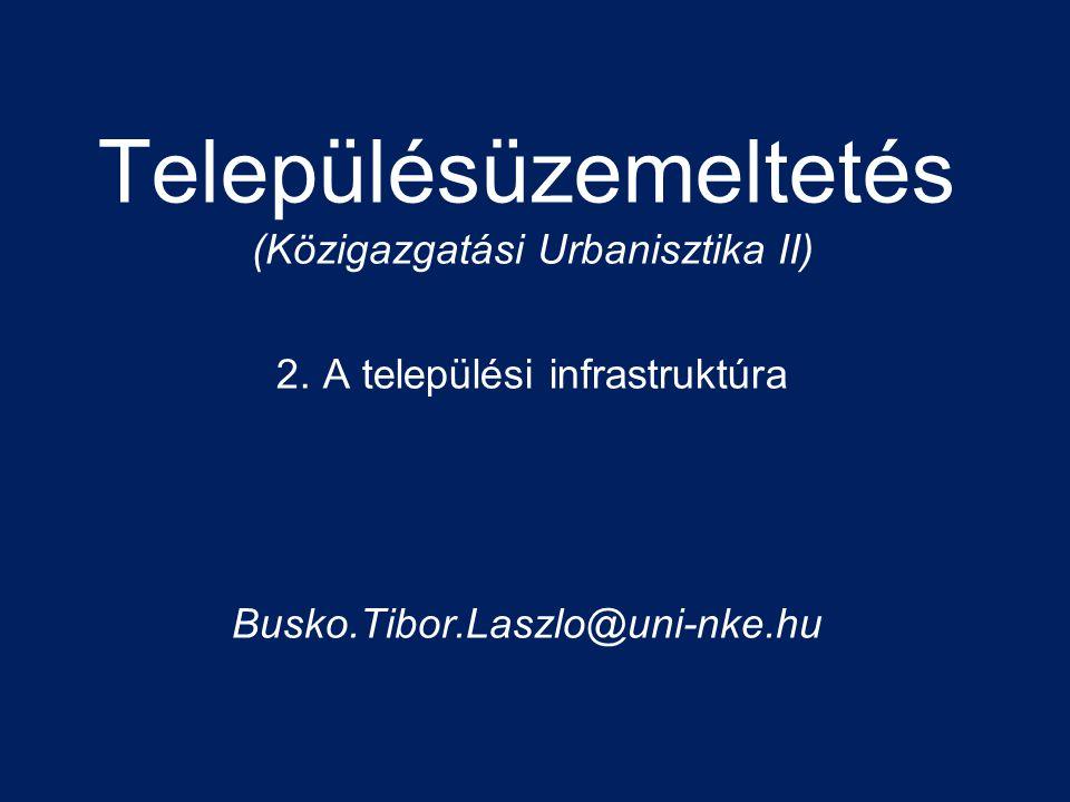 Településüzemeltetés (Közigazgatási Urbanisztika II) 2