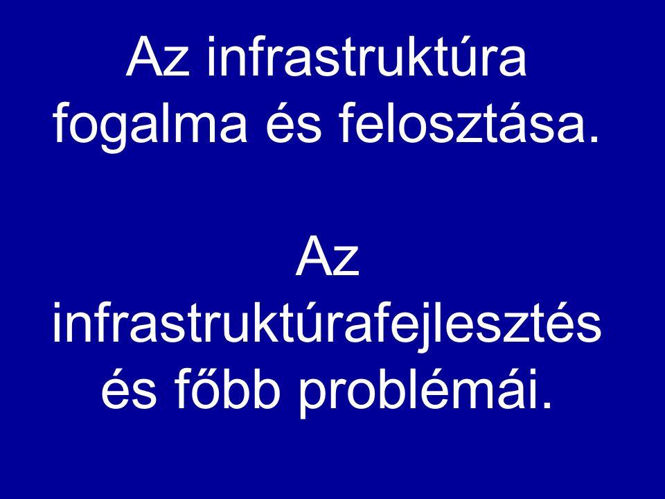 Az infrastruktúra fogalma és felosztása
