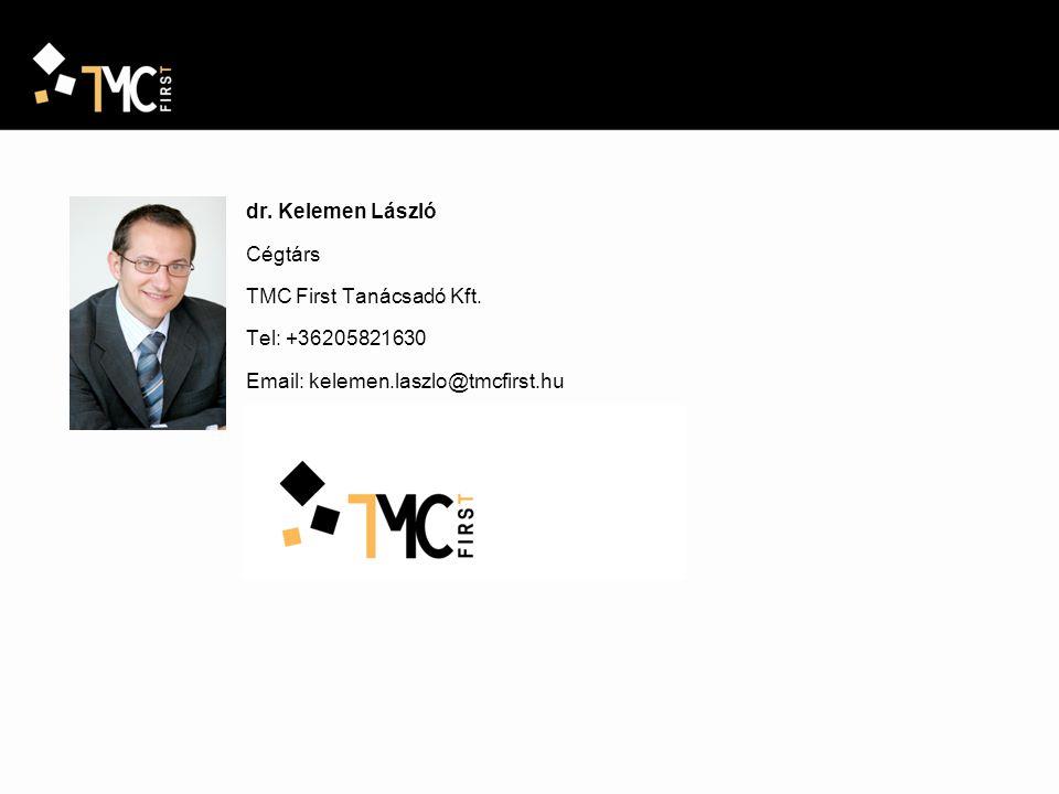 dr. Kelemen László Cégtárs TMC First Tanácsadó Kft