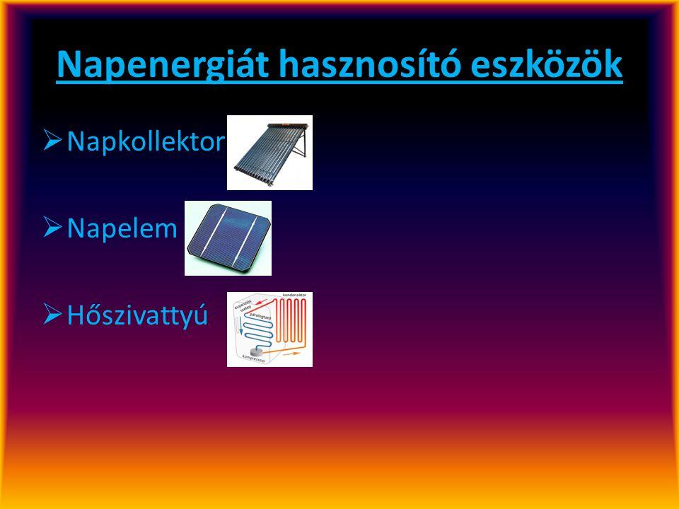 Napenergiát hasznosító eszközök