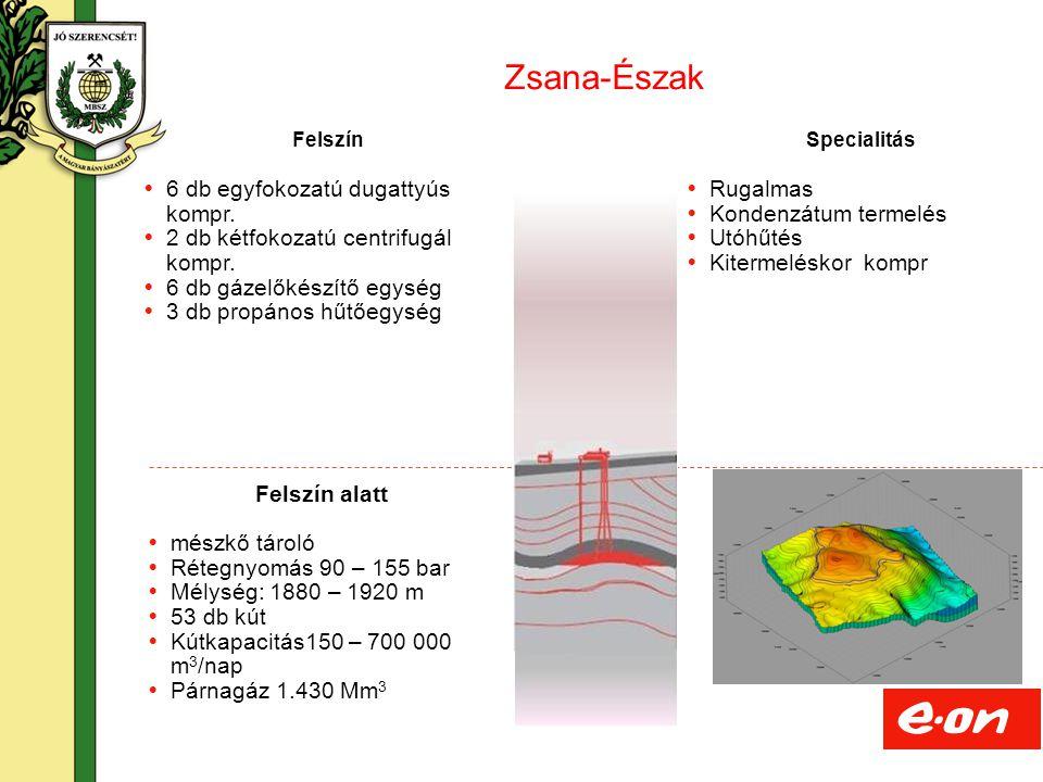 Zsana-Észak 6 db egyfokozatú dugattyús kompr.