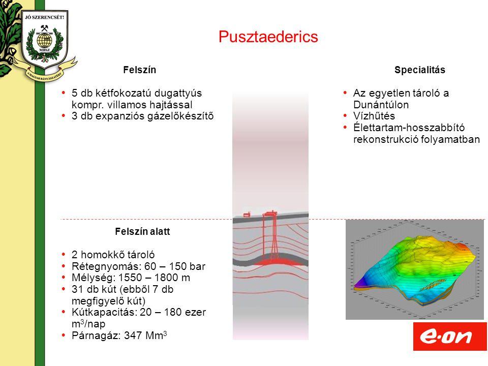 Pusztaederics 5 db kétfokozatú dugattyús kompr. villamos hajtással
