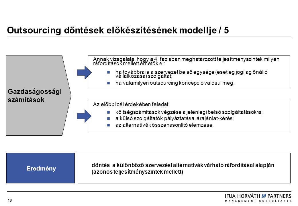Outsourcing döntések előkészítésének modellje / 5