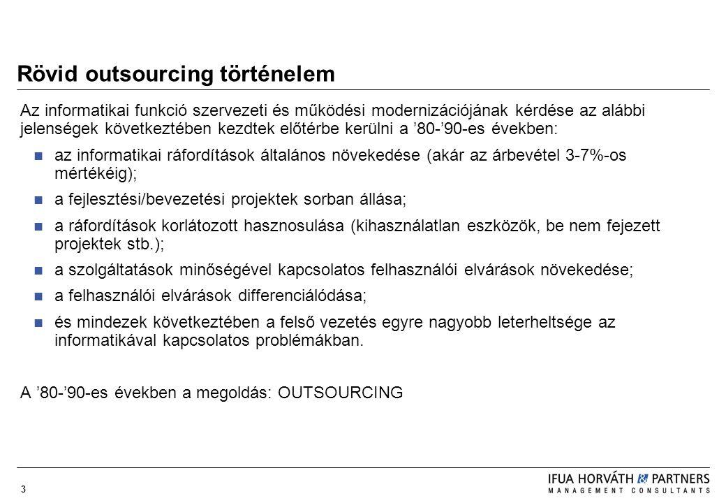 Rövid outsourcing történelem