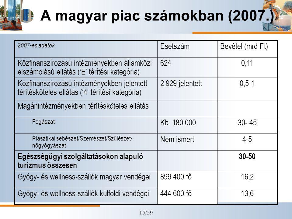 A magyar piac számokban (2007.)
