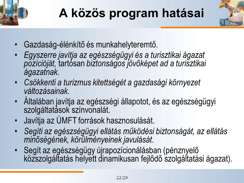 A közös program hatásai