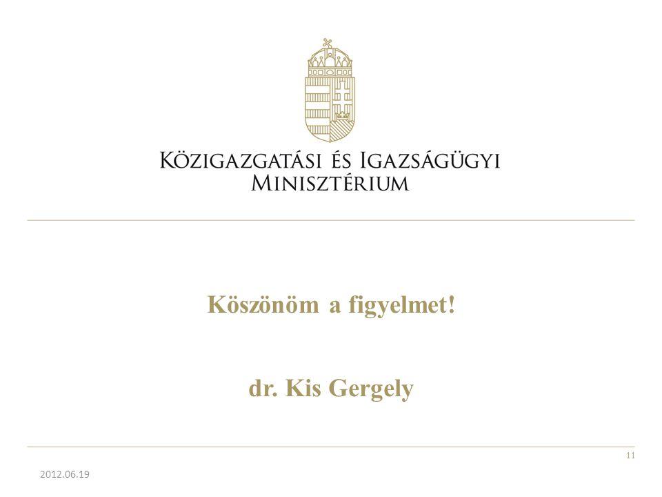 Köszönöm a figyelmet! dr. Kis Gergely