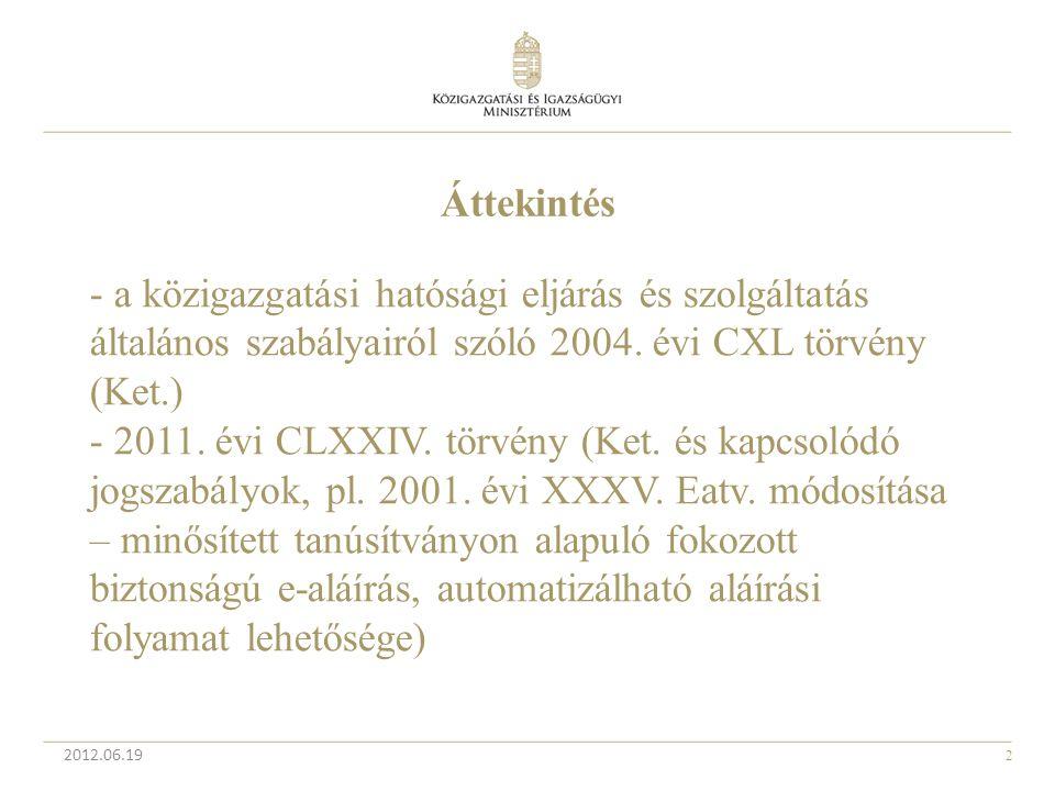 - a közigazgatási hatósági eljárás és szolgáltatás általános szabályairól szóló 2004. évi CXL törvény (Ket.)