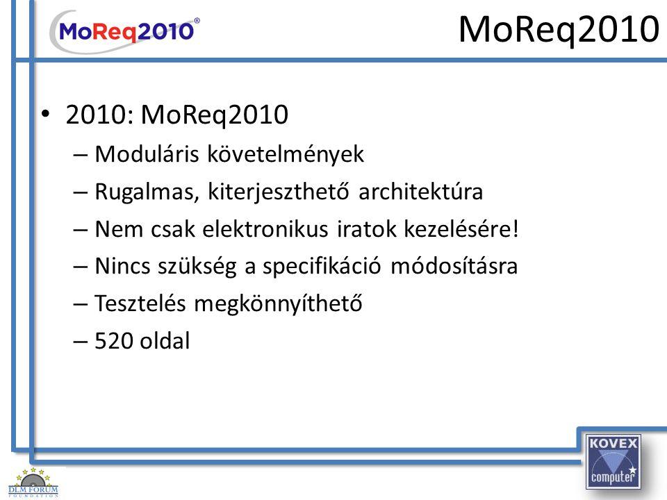 MoReq2010 2010: MoReq2010 Moduláris követelmények