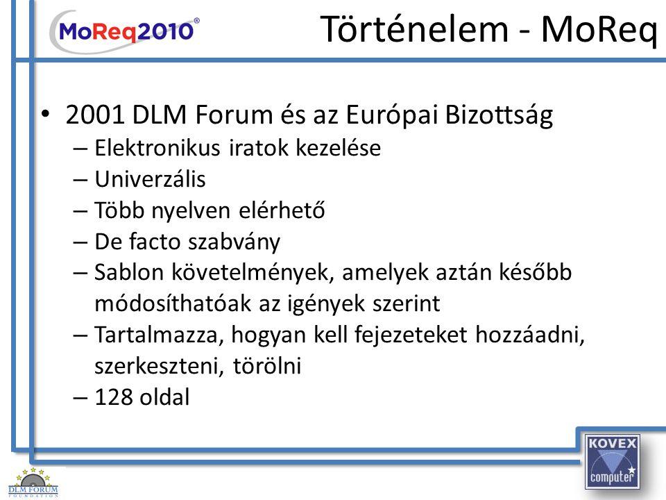 Történelem - MoReq 2001 DLM Forum és az Európai Bizottság