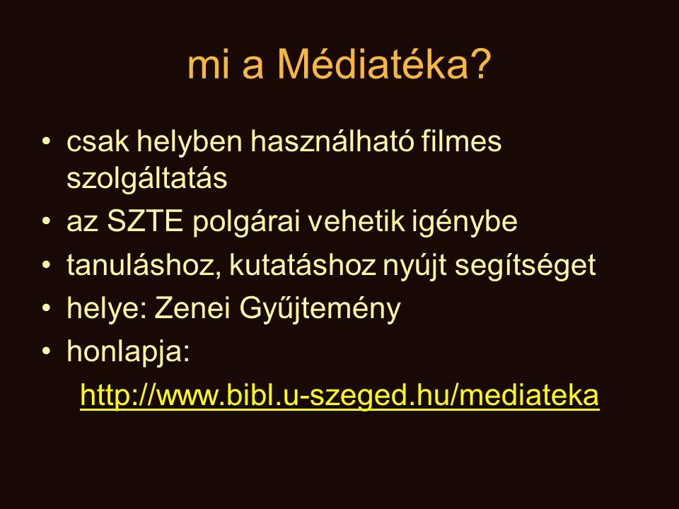 mi a Médiatéka csak helyben használható filmes szolgáltatás