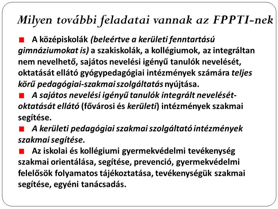 Milyen további feladatai vannak az FPPTI-nek
