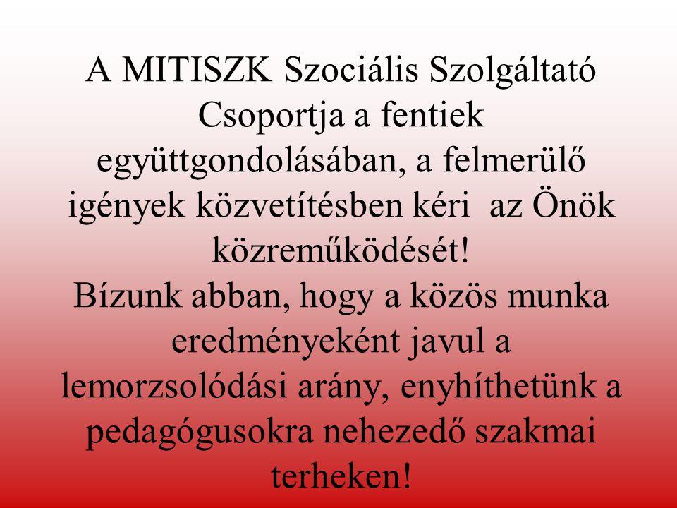 A MITISZK Szociális Szolgáltató Csoportja a fentiek együttgondolásában, a felmerülő igények közvetítésben kéri az Önök közreműködését.