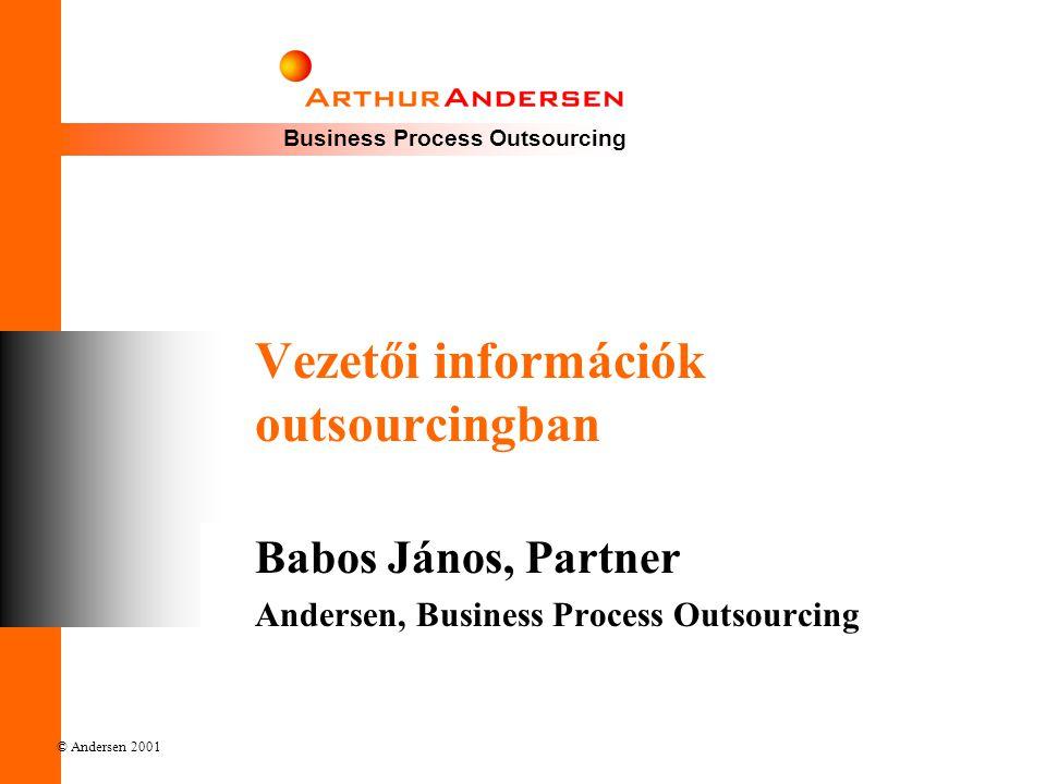 Vezetői információk outsourcingban