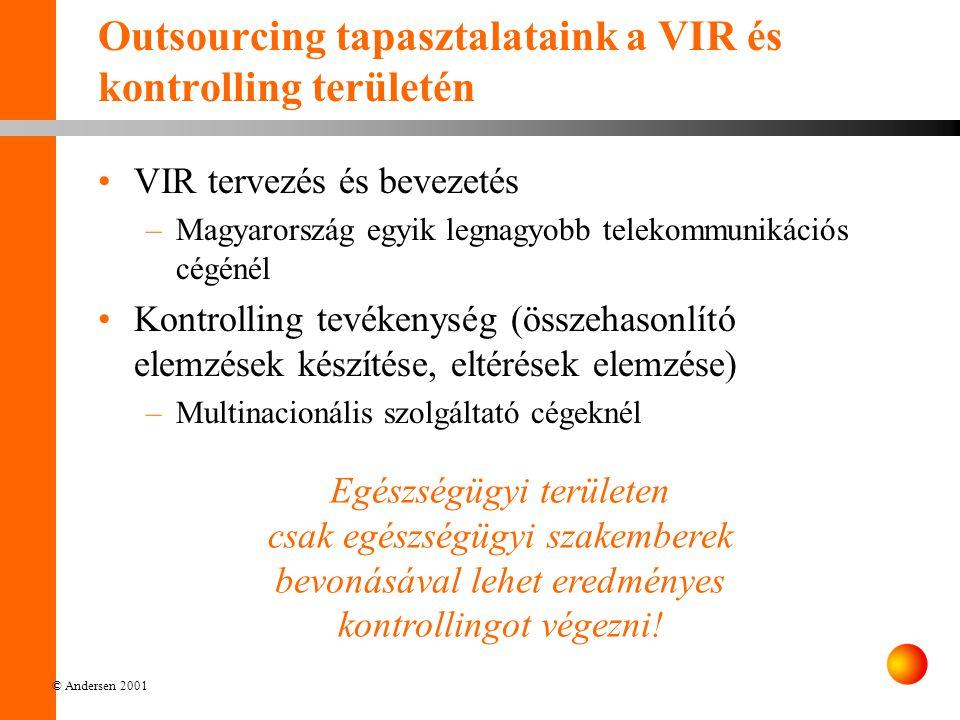Outsourcing tapasztalataink a VIR és kontrolling területén