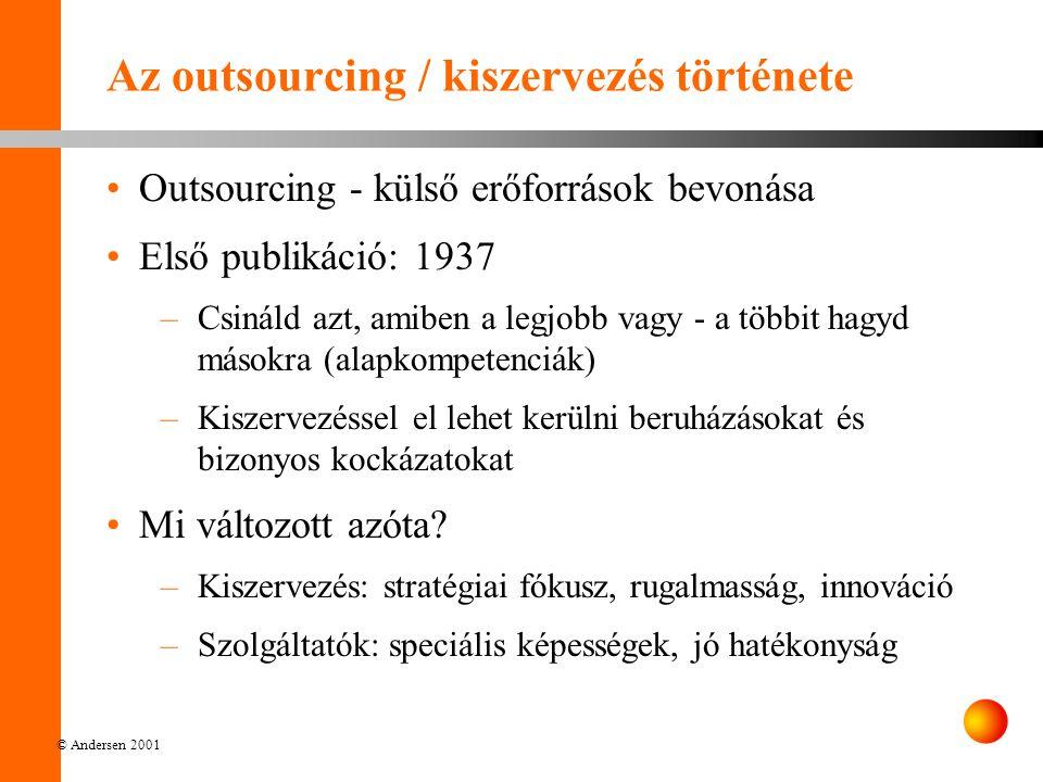 Az outsourcing / kiszervezés története
