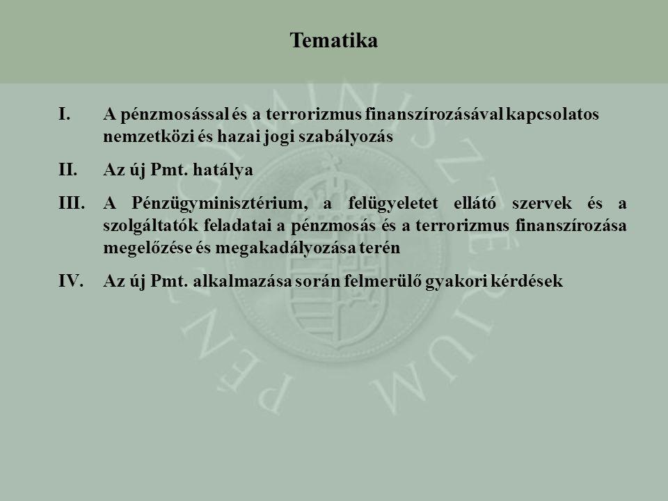 Tematika A pénzmosással és a terrorizmus finanszírozásával kapcsolatos nemzetközi és hazai jogi szabályozás.