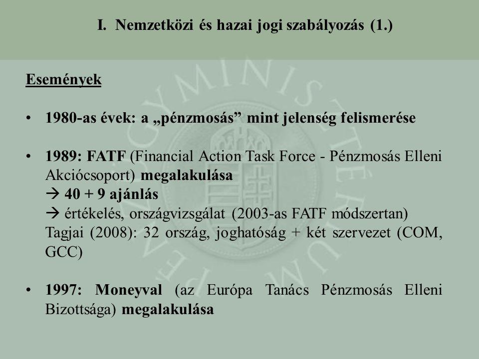 I. Nemzetközi és hazai jogi szabályozás (1.)